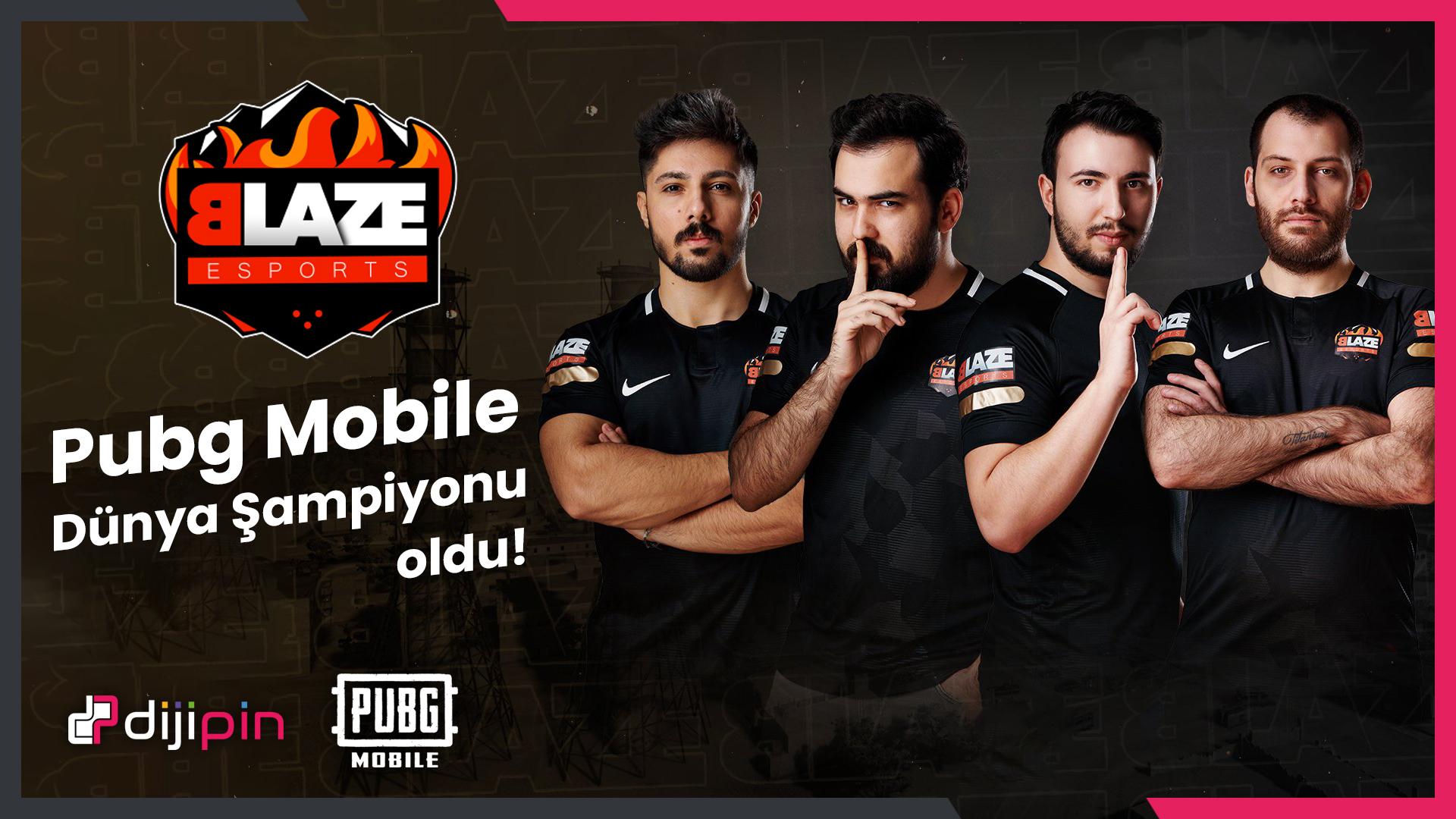 Blaze E-Spor PubG Mobile'da Dünya Şampiyonu Oldu