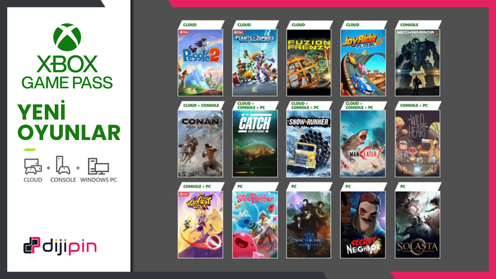 Xbox Game Pass'e 15 Yeni Oyun Ekleniyor