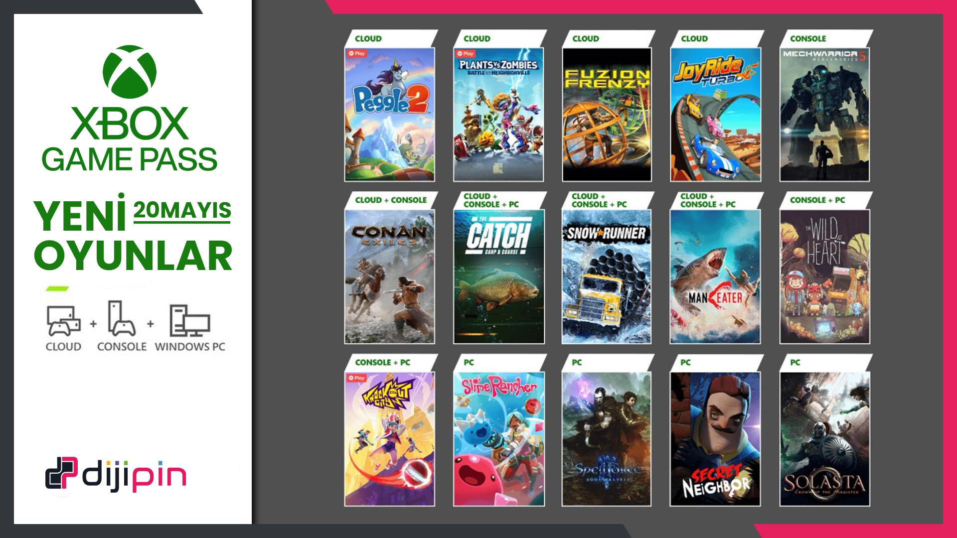 Xbox Game Pass'e Gelen Yeni Oyunlar (20 Mayıs Sonrası)