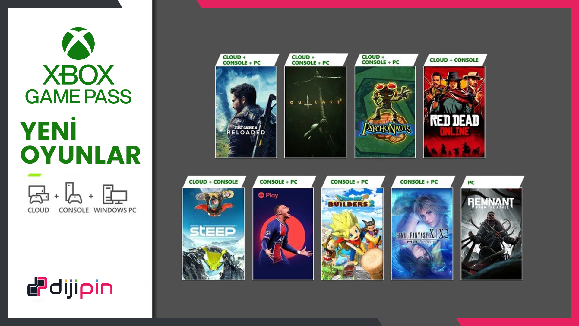 Xbox Game Pass'e Yeni Oyunlar Geliyor